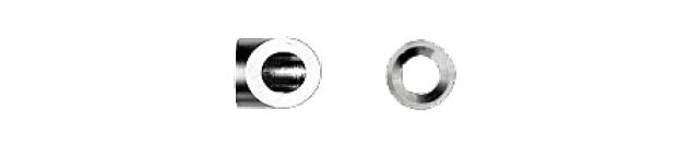 ナットエンド皿頭取付用テーパーワシャー 角柱用